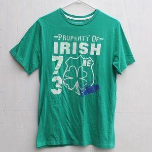 3/$15 Cherokee 🍀 Property of Irish 73 T-shirt